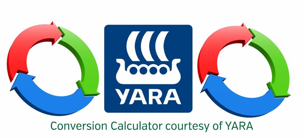 A useful conversion calculator between various units of measurement commonly used in agriculture.
